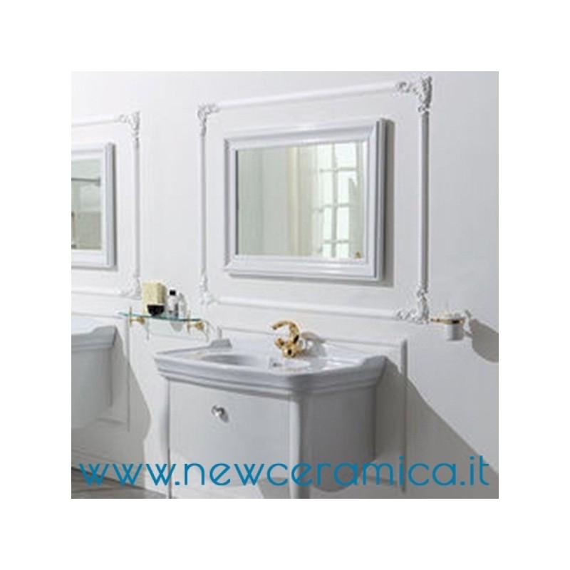 Specchio Con Cornice In Legno 100x70 Serie Impero Olympia