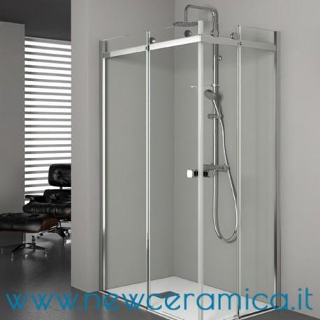 Chiusura doccia aqualight solo grandform su angolo - Chiusura doccia scorrevole ...