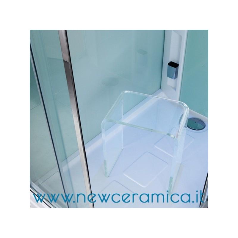 Sgabello per docce ad u in plexiglass trasparente for Sgabello per il bagno