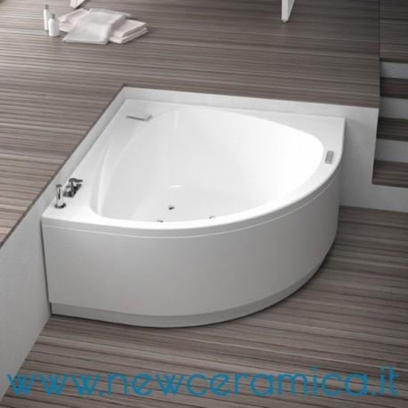 Vasca angolare 140x140 con idromassaggio life grandform - Vasche da bagno piccole angolari ...