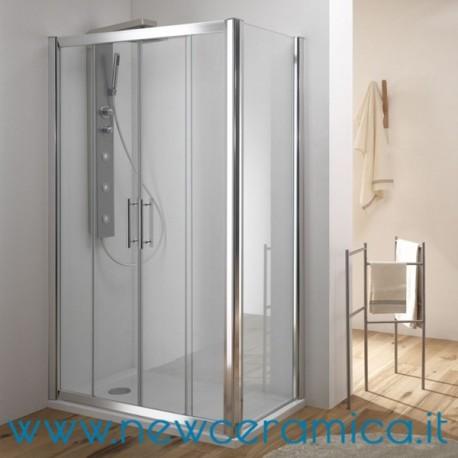 Porta box doccia scorrevole cristallo 6 mm kama ferbox - Porta in cristallo scorrevole ...