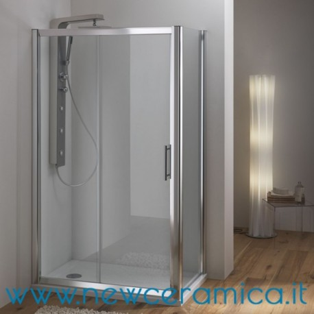 Porta box doccia scorrevole cristallo 6 mm wako ferbox - Porta in cristallo scorrevole ...