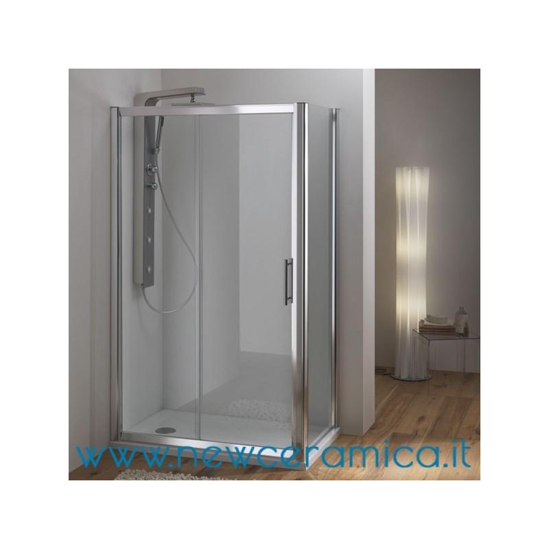 Porta box doccia scorrevole cristallo 6 mm wako ferbox - Porta scorrevole cristallo ...