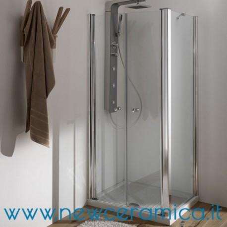 Porta doccia con 2 ante a battente modello saloon ferbox - Porta doccia saloon ...
