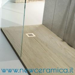 Piatto doccia texturizzato in marmo resina rocky classic - Piatto doccia 140x90 ...