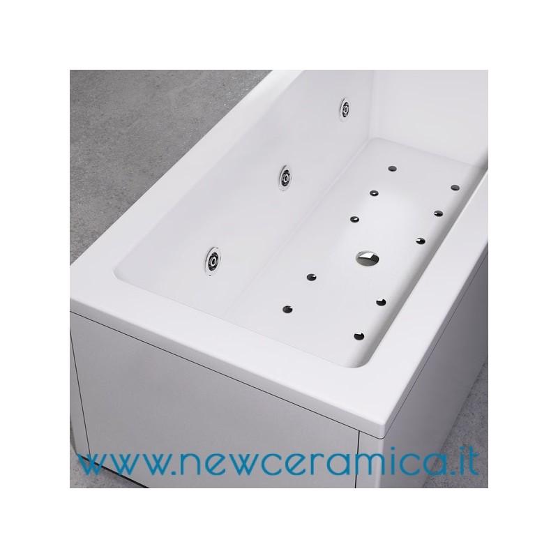 Vasca idromassaggio la quadra 180x80 in acrilico relax design - Vasca acrilico ...