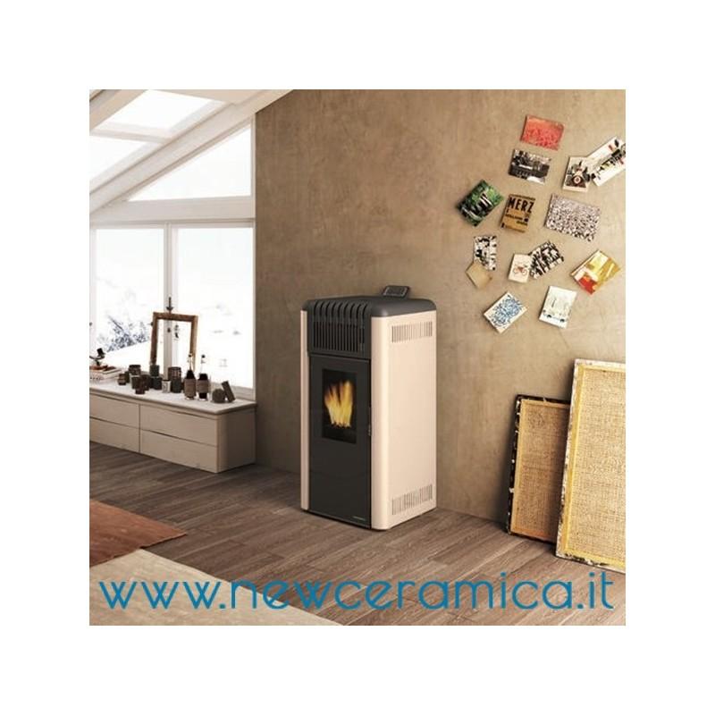 stufa a pellet ecofire aria dani porta vetro palazzetti 8 kw. Black Bedroom Furniture Sets. Home Design Ideas