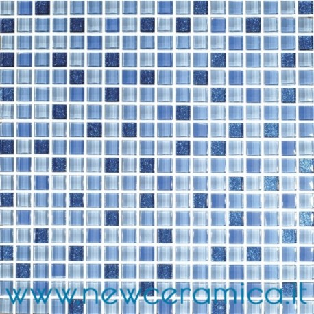 Mosaico in vetro serie star blu italian trend - Mosaico blu bagno ...