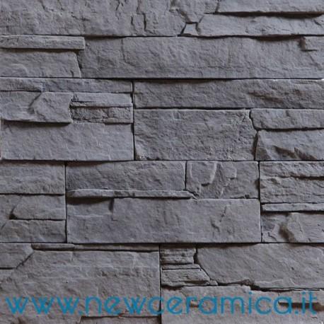Pietra da rivestimento credaro light grigio biopietra - Pietre da rivestimento interno ...