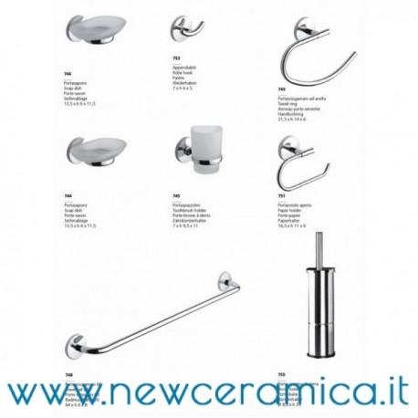 Set accessori bagno completo serie one metaform for Accessori bagno online shop