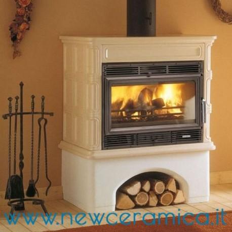 Stufa a legna ingrid ecopalex 76 rivestimento in ceramica palazzetti - Stufa a legna per riscaldamento ...