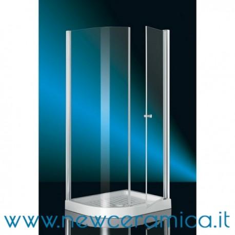 Box doccia angolare semicircolare 70x90