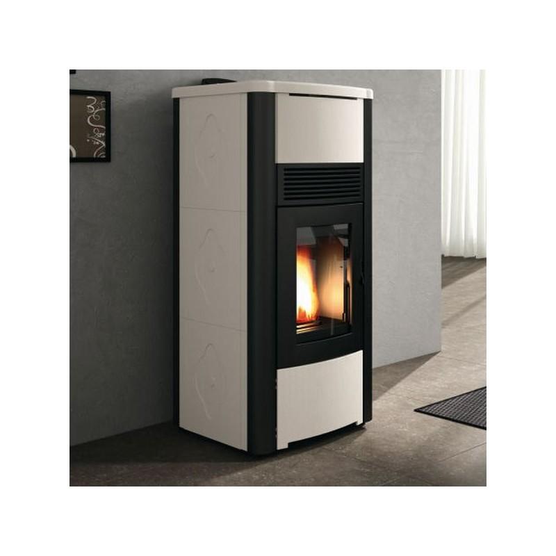 Termo stufa a pellet idro palazzetti ecofire carla 15 kw termostufa con maiolica ebay - Termostufa a pellet palazzetti ...