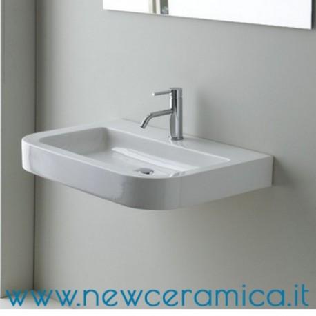 lavabo sospeso moon asimmetrico : Lavabo Sospeso In Ceramica Monty Lavabo Sospeso Ceramica Cielo ...