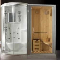 Box doccia idromassaggio angolari con sauna e cromoterapia - Box doccia con sauna e bagno turco ...