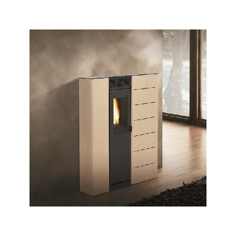 Stufa a pellet ecofire aria denise palazzetti 7 4 kw - Riscaldamento aria canalizzata ...