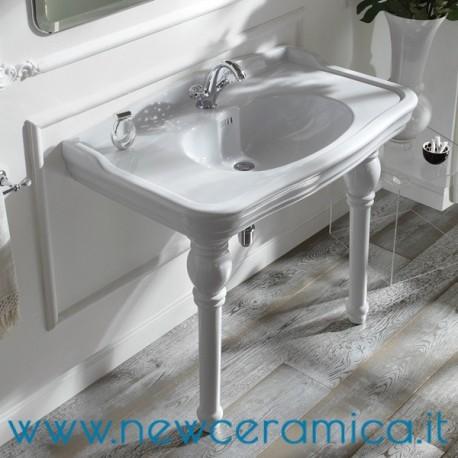 Lavabo A Consolle In Ceramica.Lavabo Consolle Monoforo Serie Impero Olympia