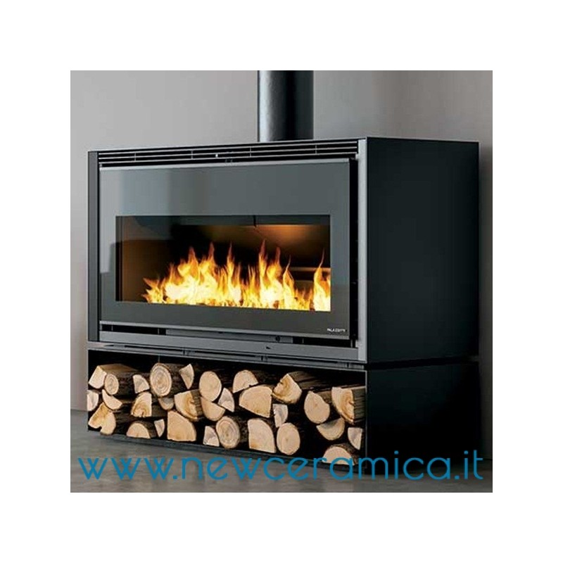 Focolare a legna iki 16 9 palazzetti for Termocamini combinati legna e pellet palazzetti