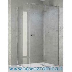 Chiusura doccia Aquasteel Solo Grandform con porta battente + lato fisso
