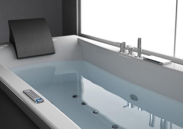 Vasca Da Bagno Incasso 190x90 : Glass malmo vasca da incasso con sistema whirlpool integrato