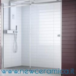 Chiusura doccia Aqualight Solo Grandform con porta scorrevole per installazione a nicchia