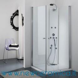 Box doccia angolare con porte a battenti modello Star