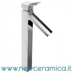 Miscelatore monocomando alto cromo a cascata per lavabo serie Young Palazzani