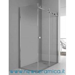Chiusura doccia Aqualight Solo Grandform con una porta scorrevole + un lato fisso