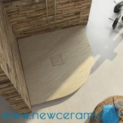 Piatto doccia angolare texturizzato in marmo resina Rocky Special