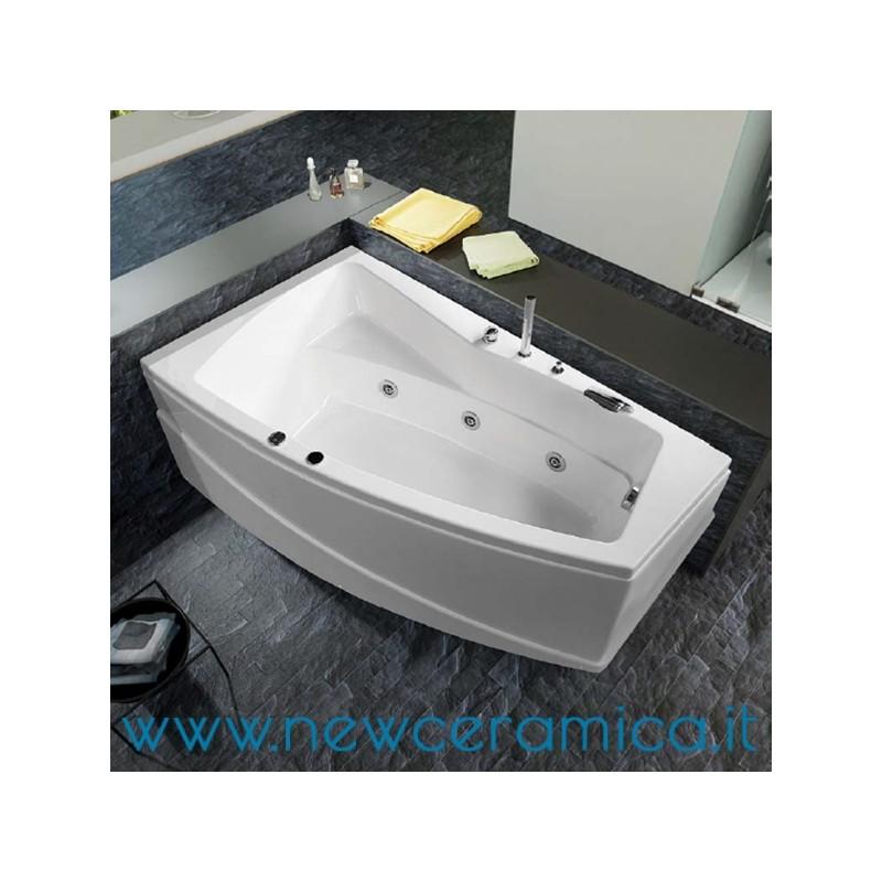 Vasca idromassaggio asimmetrica Greta 170x100x55 Relax Design