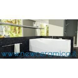 Vasca idromassaggio pneumatica asimmetrica con pannello Greta 170x100x55 Relax Design