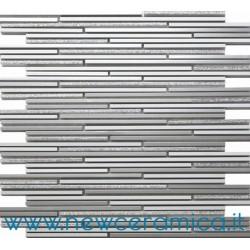 Mosaico in alluminio  serie Aluglitter argento Italian Trend