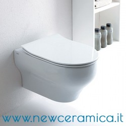 Coprivaso in termoindurente con dispositivo soft close serie Clear e Milady Olympia