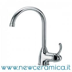 Monocomando per lavello monoforo bocca girevole serie Mambo F.lli Frattini