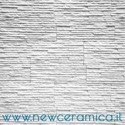 Rivestimento in pietra Monre Bianco  linea Living Biopietra