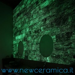 Rivestimento in pietra Antares  Iridium Luminance linea Prestige Biopietra