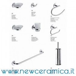 Set accessori bagno completo serie Zero Metaform