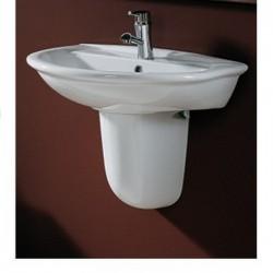 Lavabo cm 65 con semicolonna sospeso serie Karla Ceramica RAK