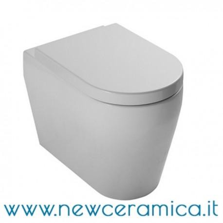 Sanitari Nero Ceramica Aliseo.Vaso Serie Genesi Nero Ceramica