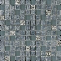 Mosaico marmo serie luxor Agata grigio Italian Trend