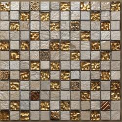 Mosaico marmo serie luxor zafiro giallo Italian Trend